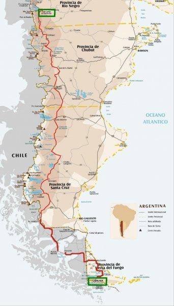 Patagonia Cartina Geografica.Patagonia Il Percorso